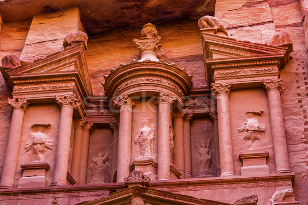Rose Red Treasury Afternoon Siq Petra Jordan  Stock photo © billperry