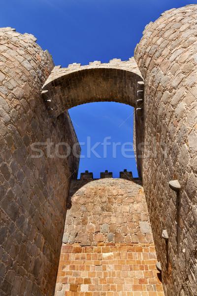 Avila Castle Walls Arch Cityscape Castile Spain Stock photo © billperry