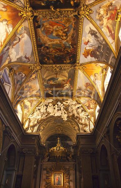 Święty mikołaj kościoła malowany ołtarz Rzym Włochy Zdjęcia stock © billperry