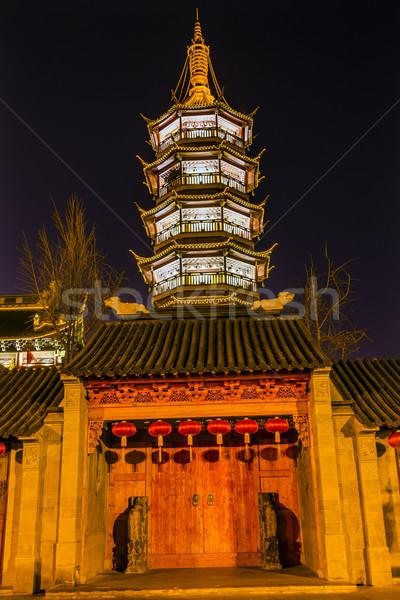Budista templo porta pagode China Foto stock © billperry