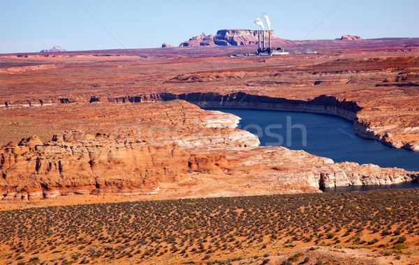 Navaho Generating Station Lake Powell Glen Canyon Recreation Area Arizona Stock photo © billperry