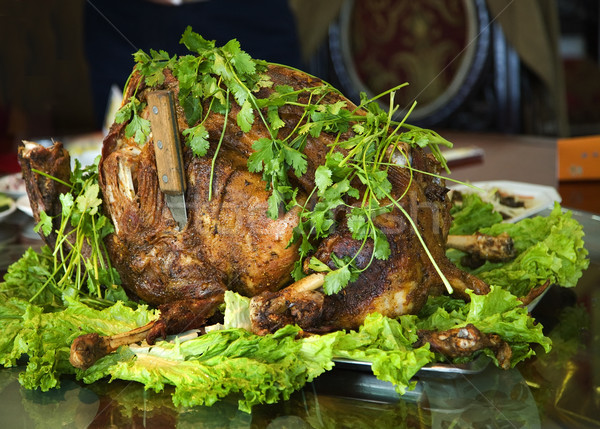 Roasted Whole Lamb Gansu Province China Stock photo © billperry
