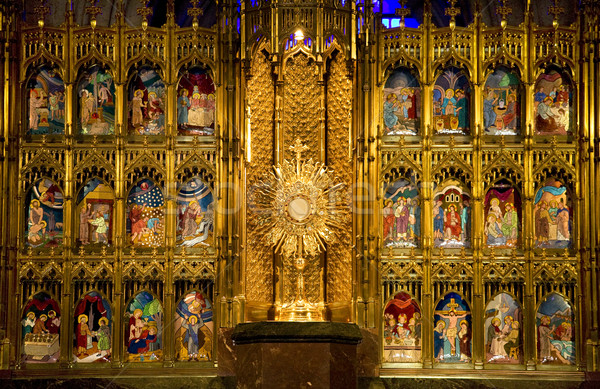 Golden Altar Close Up Temple of Atonement Guadalajara Stock photo © billperry