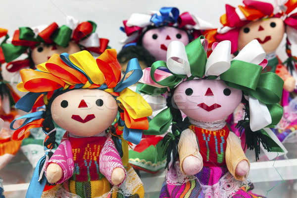 Colorful Lupita Dolls Mexico City Mexico Stock photo © billperry