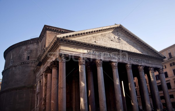 Ancient Pantheon Outside Basilica Palatina Rome Italy Stock photo © billperry