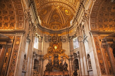 Basilica Altar Church of El Salvador Seville Andalusia Spain Stock photo © billperry