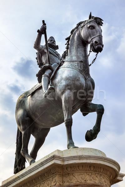 王 像 景観 マドリード 有名な ストックフォト © billperry