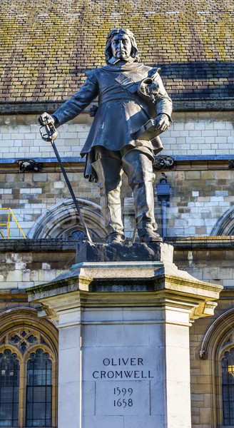 Oliver Cromwell Statue Houses of Parliament Westminster London E Stock photo © billperry