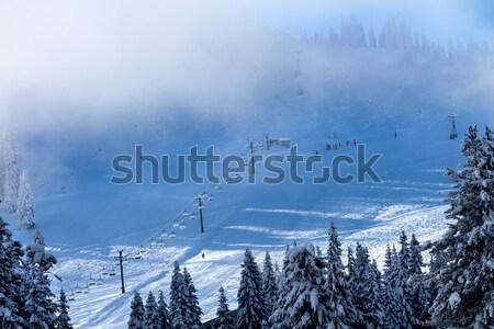 Sí iskola köd passz Washington osztály Stock fotó © billperry