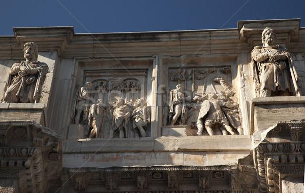 Detalles arco Roma Italia piedra año Foto stock © billperry
