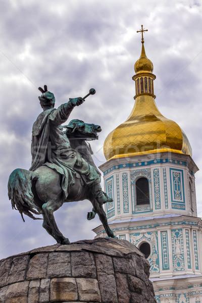 Bogdan Khmelnitsky Equestrian Statue Saint Sophia Sofiyskaya Squ Stock photo © billperry