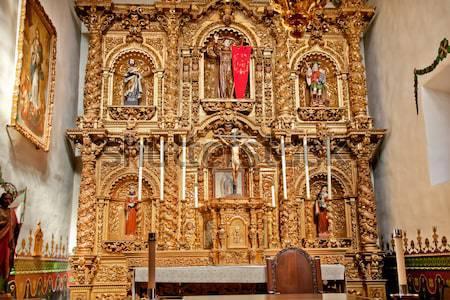 Dorado altar misión basílica san juan iglesia Foto stock © billperry