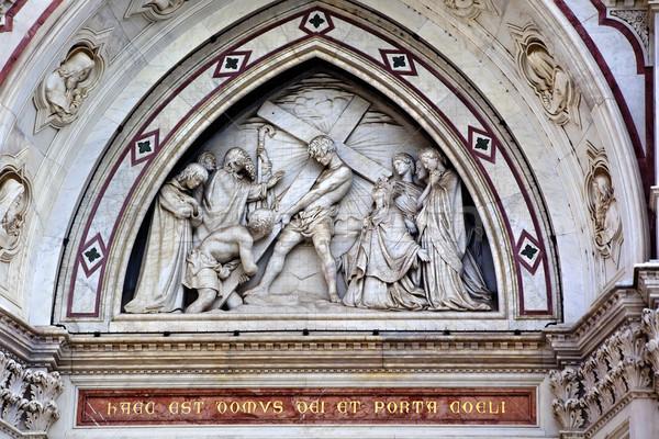 Basiliek jongen kruis mozaiek Stockfoto © billperry