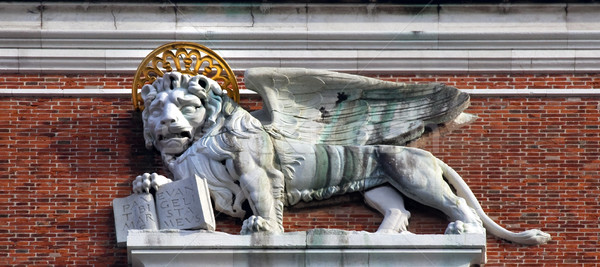 Campanile Bell Tower Saint Mark's Lion Statue Venice Italy Stock photo © billperry
