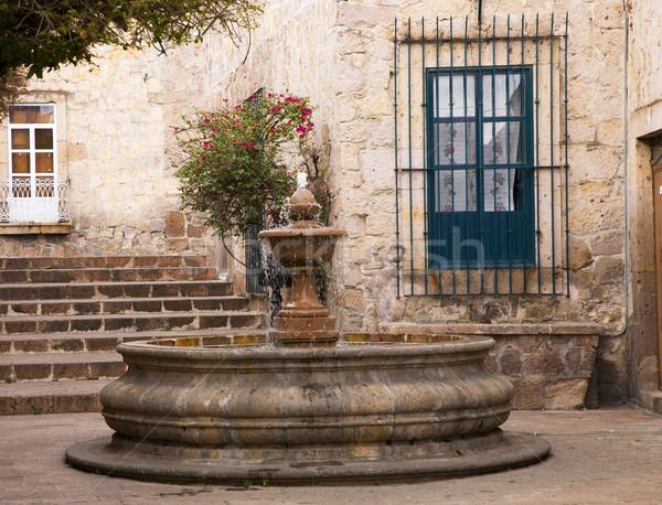 Small Courtyard Plaza Fountain Morelia Mexico Stock photo © billperry