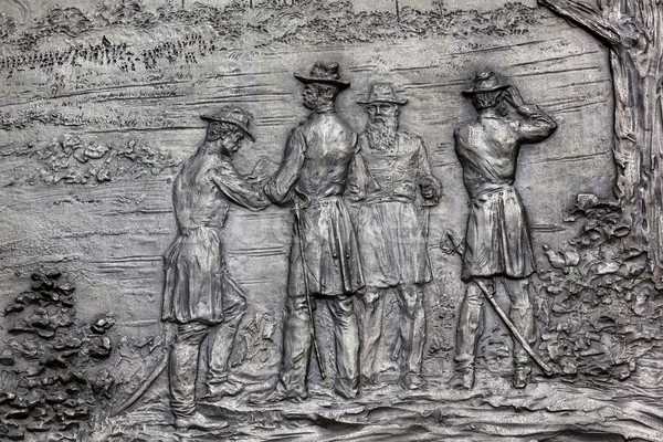General Sherman Bronze Bas Relief Battle of Atlanta Civil War M Stock photo © billperry