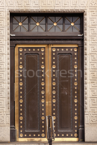 Brass Door US Treasury DepartmentWashington DC Stock photo © billperry