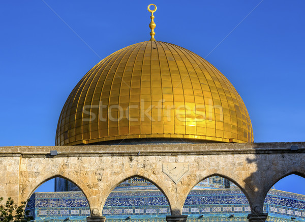 Dome of the Rock Islamic Mosque Temple Mount Jerusalem Israel  Stock photo © billperry