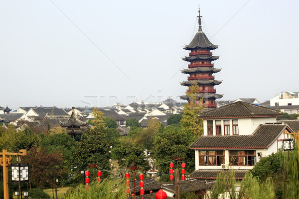 Oude chinese pagode daken China Stockfoto © billperry
