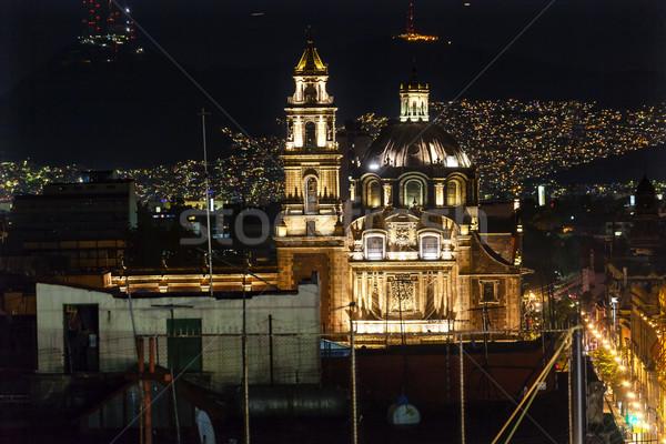 Ciudad de México Navidad luces centro noche Foto stock © billperry