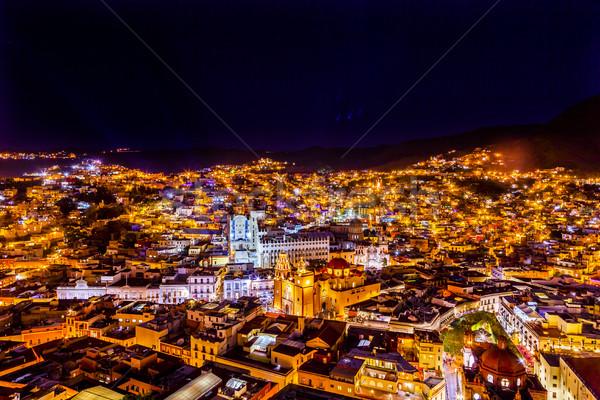 University Temple Companiia Our Lady Basilica Night Guanajuato M Stock photo © billperry
