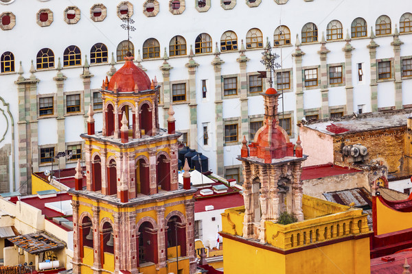 University Our Lady Towers Spires Basilica Guanajuato Mexico  Stock photo © billperry