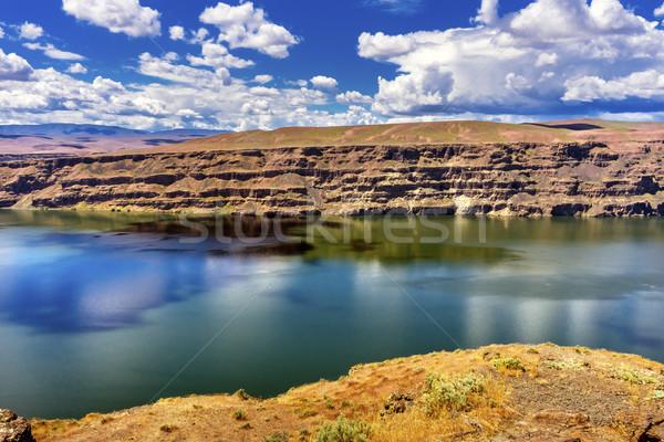 Lago rio cavalos alto deserto Foto stock © billperry