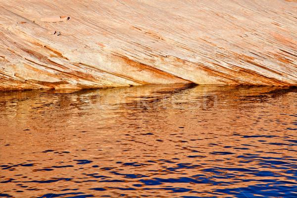 Antelope Slot Canyon Reflection Abstract Lake Powell Arizona Stock photo © billperry