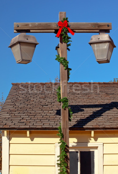 Natal lâmpada postar velho San Diego cidade Foto stock © billperry