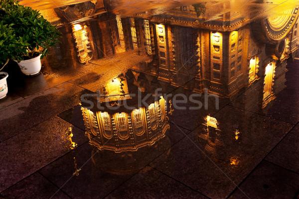 Saint Sofia Russian Orthodox Church Reflection Harbin China Stock photo © billperry