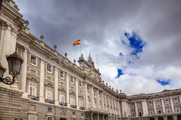 ロイヤル 宮殿 雲 空 景観 スペイン国旗 ストックフォト © billperry