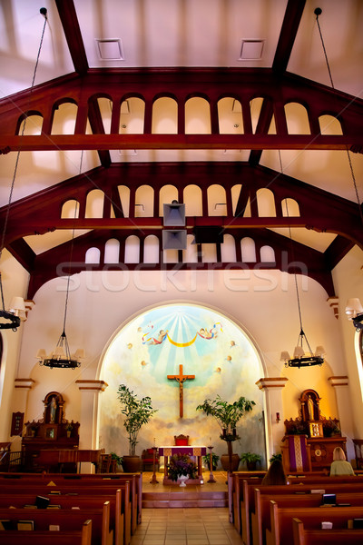 Immaculate Conception Church Interior Old San Diego Town Califor Stock photo © billperry