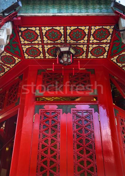 Rojo ventana pecado templo Hong Kong pequeño Foto stock © billperry