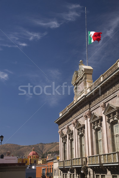Government Building Church Flag Guanajuato Mexico Stock photo © billperry