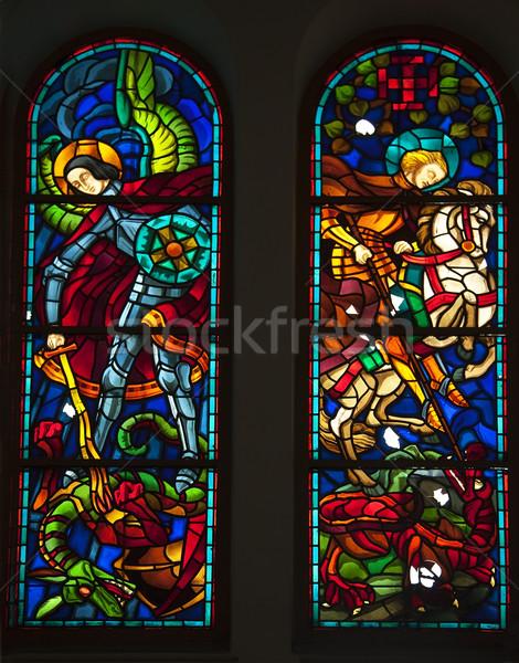 Notre Dame Katedrali vitray katedral fransız Stok fotoğraf © billperry