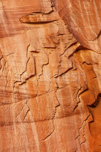 砂岩 山 人 見える 画像 自然 ストックフォト © billperry