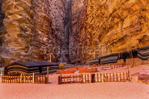 Kamp vadi ay rom yer erken Stok fotoğraf © billperry