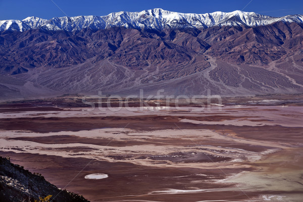 Vista montanas muerte valle sal parque Foto stock © billperry