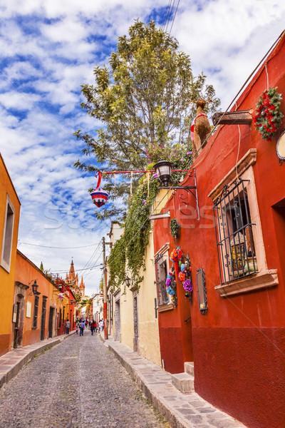 Rua natal igreja decorações cúpula México Foto stock © billperry