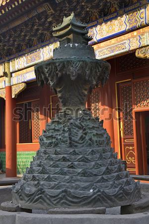 Inferno bronzo statua tempio Pechino Foto d'archivio © billperry