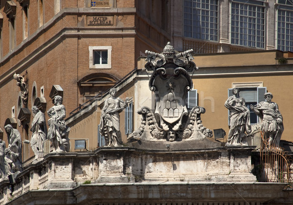 Religious Statues Saint Peter's Basilica Vatican Rome Italy Stock photo © billperry