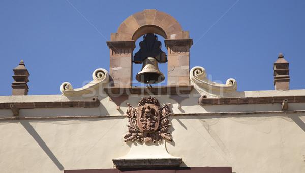 Bell Mexican Symbol  Government Building Queretaro Mexico Stock photo © billperry