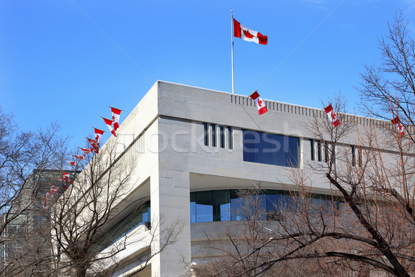 Canada Flags Embassy Pennsylvania Ave Washington DC Stock photo © billperry