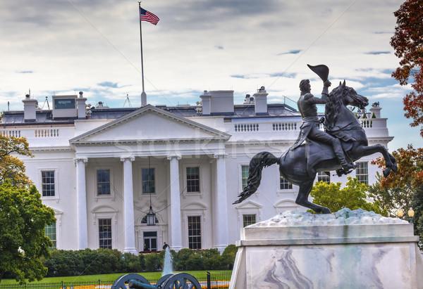 Stockfoto: Standbeeld · park · witte · huis · najaar · vierkante · Washington · DC