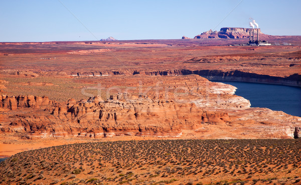 Navaho Generating Station Lake Powell Glen Canyon Recreation Area Arizona Stock photo © billperry