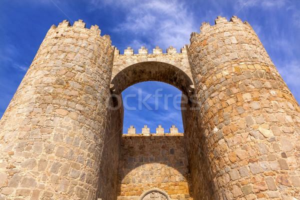 城 町 壁 アーチ ゲート 景観 ストックフォト © billperry