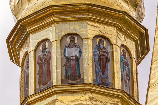 Golden Dome Saints Holy Assumption Pechrsk Lavra Cathedral Kiev  Stock photo © billperry
