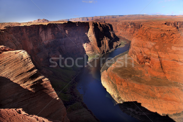 Left Side Horseshoe Bend Glen Canyon Overlook Colorado River Pag Stock photo © billperry