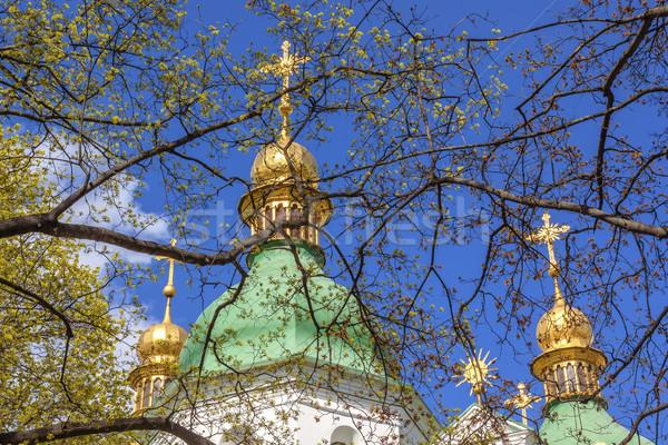 Saint Sophia Sofia Cathedral Spires Sofiyskaya Square Kiev Ukrai Stock photo © billperry