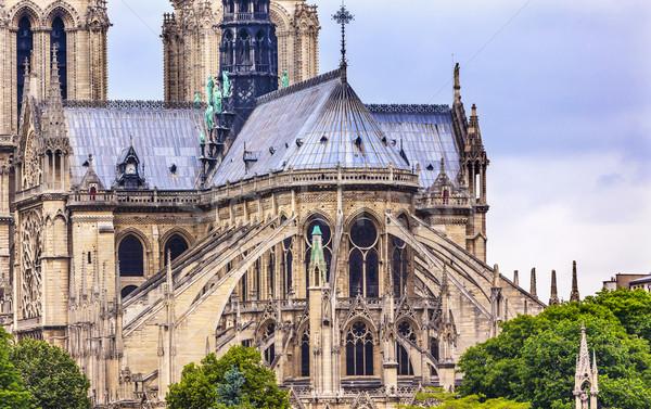 Pływające Katedra Notre Dame Paryż Francja Zdjęcia stock © billperry